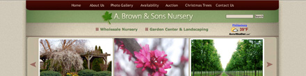 a. brown and sons nursery website image