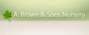 A. Brown and Sons Nursery Logo