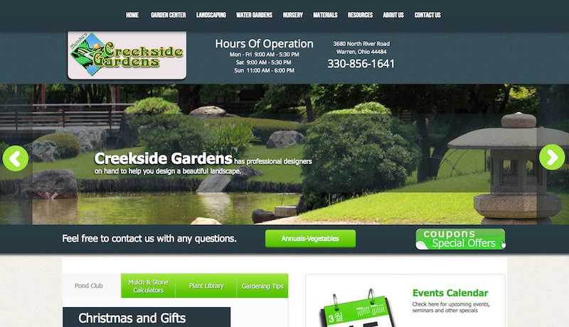Creekside Gardens website