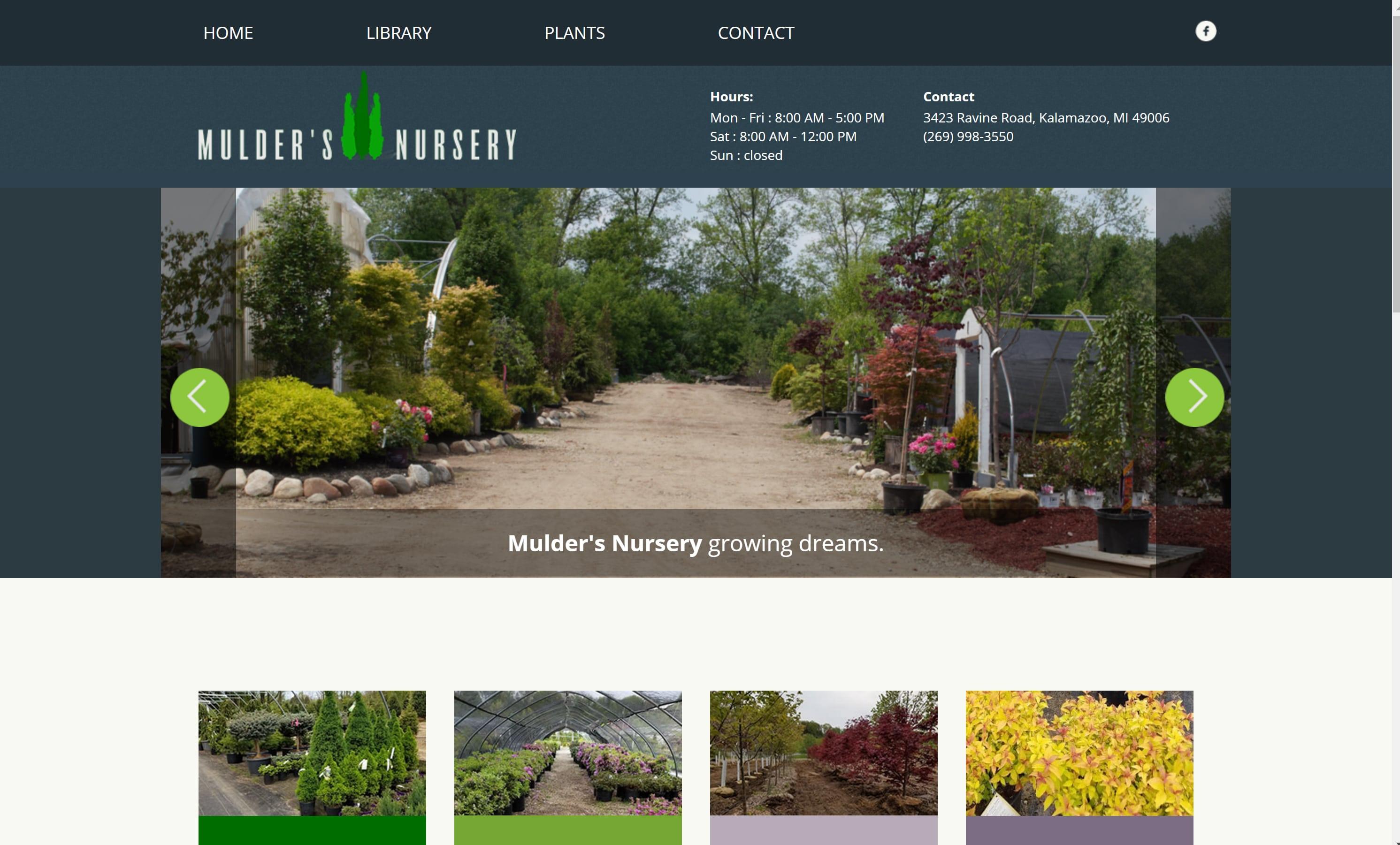 The Site Gardener Garden Center Websites Examples Of