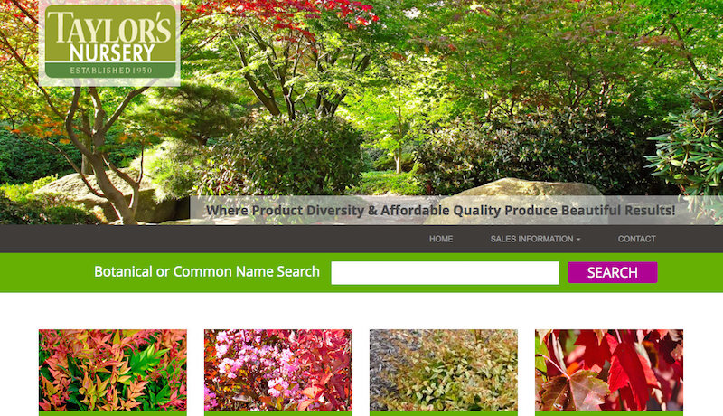 Website design for garden centers & wholesale nurseries